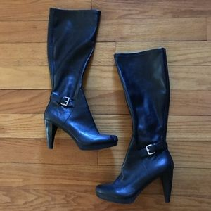 Nine West thigh high black tall boots. EUC8.5